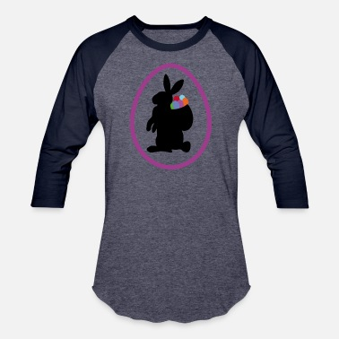 Back Rabbit easter rabbit - Baseball T-Shirt