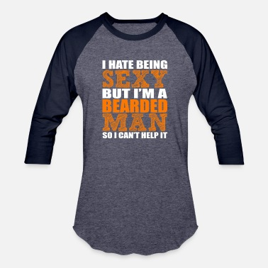 Sexy Chubby Girl I hate being sexy - Baseball T-Shirt