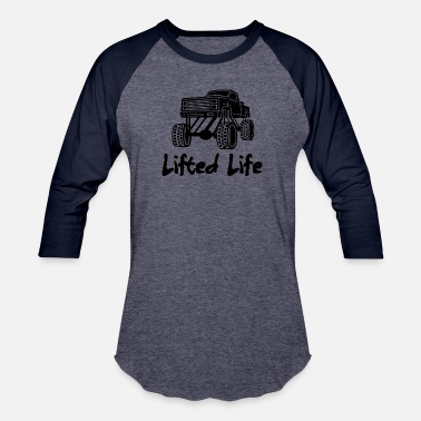 Lifted Lifted Life - Unisex Baseball T-Shirt