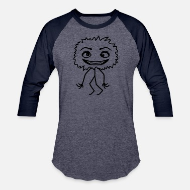 Vampire female small hairy fluffy girl woman crazy crazy c - Baseball T-Shirt