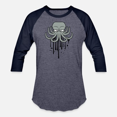 Ink Drop graffiti ink drop paint spray evil octopus octopus - Baseball T-Shirt