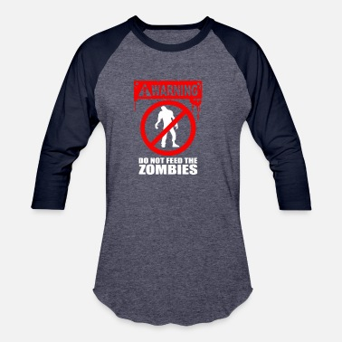 Symbol Zombie Do Not Feed - Baseball T-Shirt