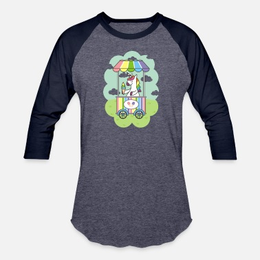 Unicorn Ice Cream - Unisex Baseball T-Shirt