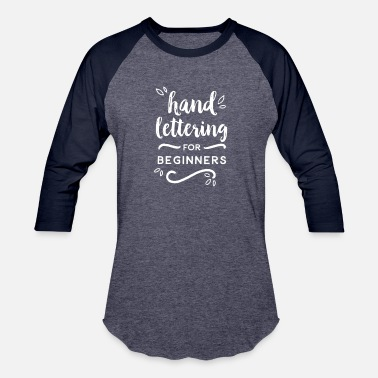 Typography HAND LETTERING - Baseball T-Shirt