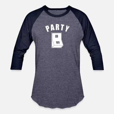 Partying Party On Animal - Unisex Baseball T-Shirt