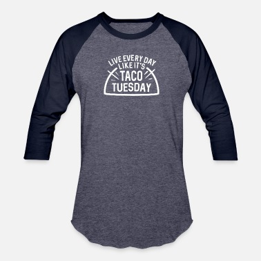 Taco Taco Tuesday Funny - Unisex Baseball T-Shirt