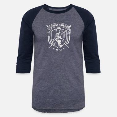 d16b97d9cb2f Ramone Johnny Ramone Army Music Band Embroidered Iron - Unisex Baseball T- Shirt