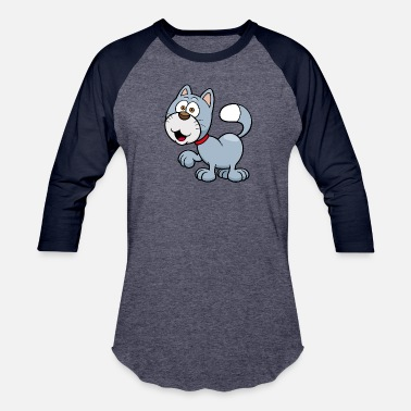 Character cat-animal-pet-smile - Baseball T-Shirt