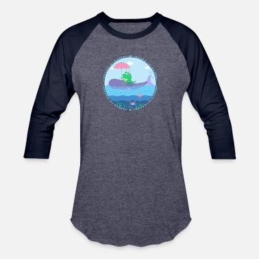 Natimade Monster with whale - Baseball T-Shirt