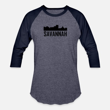 Georgia Savannah Georgia City Skyline - Baseball T-Shirt