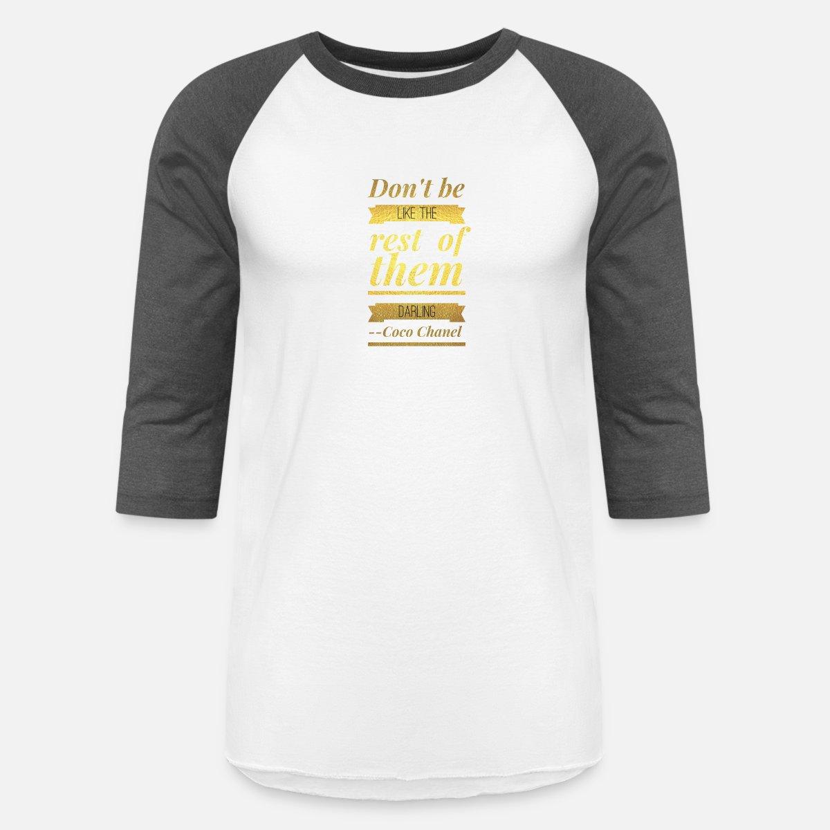 2f28b03986d6 ... coco chanel uni baseball t shirt spreadshirt ...