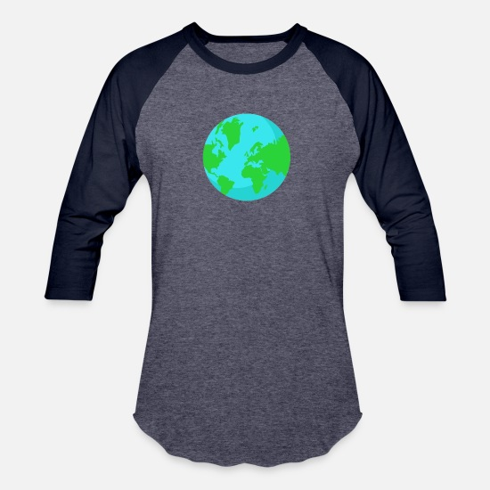 World's Best T-Shirts - World Eclipse - Unisex Baseball T-Shirt heather blue/navy