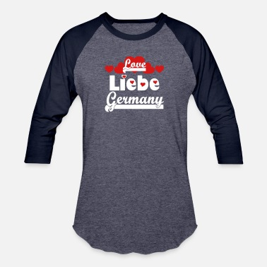 Vector ❤️⚽✦Liebe Germany-I Love Germany-Best Country - Unisex Baseball T-Shirt