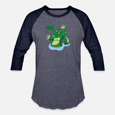 Nessy cartoon nessy - Unisex Baseball T-Shirt