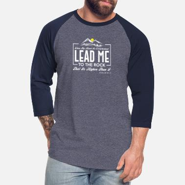 Tower Lead Me To The Rock - Unisex Baseball T-Shirt