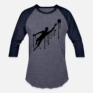 Goalkeeper graffiti drops spray goalkeeper goalkeeper holding - Unisex Baseball T-Shirt