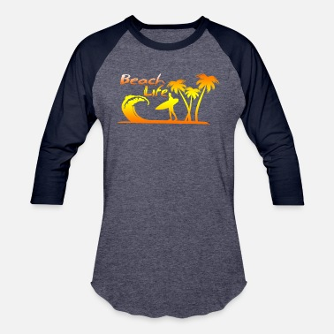 Beach Holiday beach life holiday surfing - Unisex Baseball T-Shirt