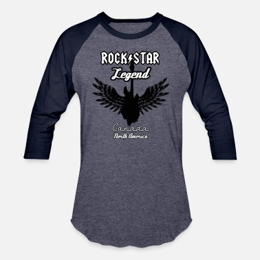 Canada Rocks Rock Star Legend Canada - Baseball T-Shirt