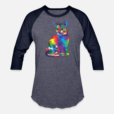 Lustig Cat cat - Baseball T-Shirt