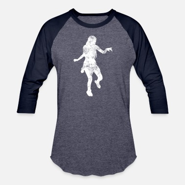 Shuffle dance girl performs and acts by the music - Unisex Baseball T-Shirt