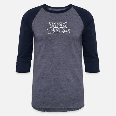 aa124ba9 ARM BARS by Cageside Fight Co Funny Brazilian Ji - Unisex Baseball T-Shirt