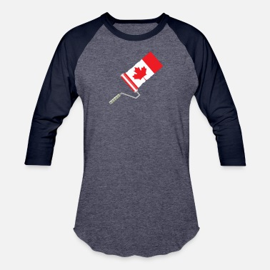 Painting Paint Roller Canadian Flag - Unisex Baseball T-Shirt