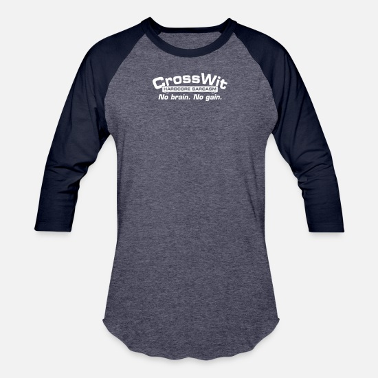 Game T-Shirts - Cross Wit - Unisex Baseball T-Shirt heather blue/navy