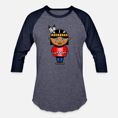 Squaw indian squaw girl cute child baby - Baseball T-Shirt