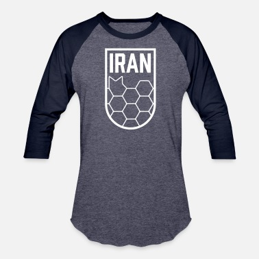 Iran Geometric Iran Soccer Badge - Baseball T-Shirt