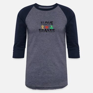 6fba3630dddc I Love Snake I love snakes - Unisex Baseball T-Shirt