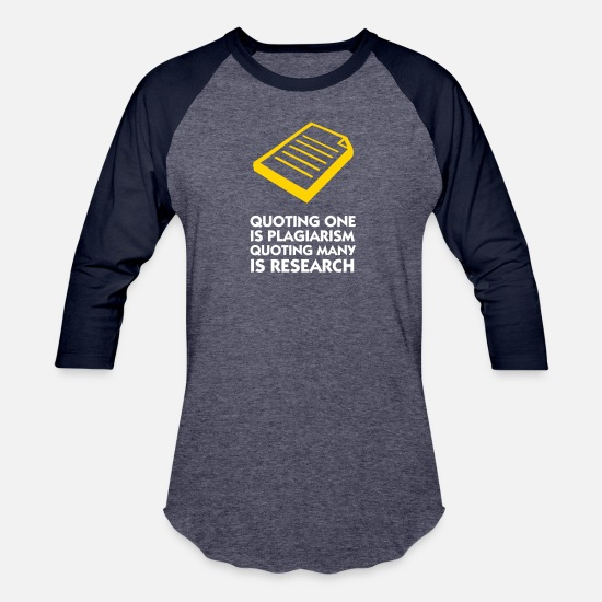Researchers T-Shirts - Plagiarism And Research - Unisex Baseball T-Shirt heather blue/navy