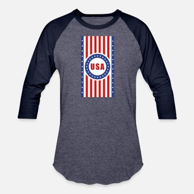 Vertical Usa Flags USA Flag Vertical - Unisex Baseball T-Shirt