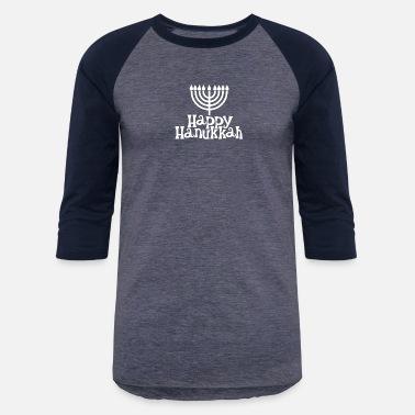918cb263e5 Happy Hanukkah Jewish Funny - Unisex Baseball T-Shirt