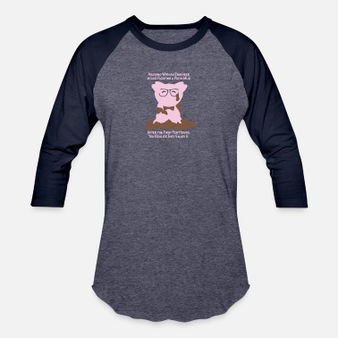 Mud Engineer Engineer Pig in Mud - Baseball T-Shirt