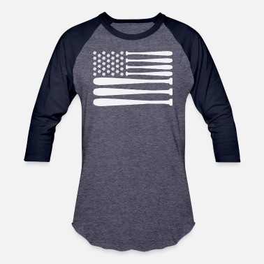 American Flag Baseball Patriotic Baseball Softball USA American Flag - Baseball T-Shirt