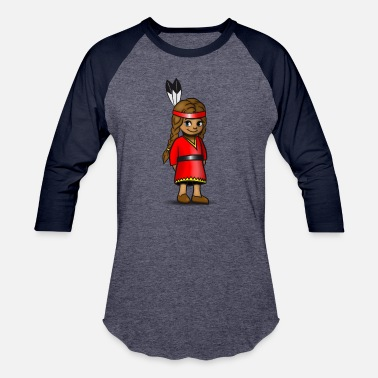 Squaw indian squaw girl sweet cute child baby - Baseball T-Shirt
