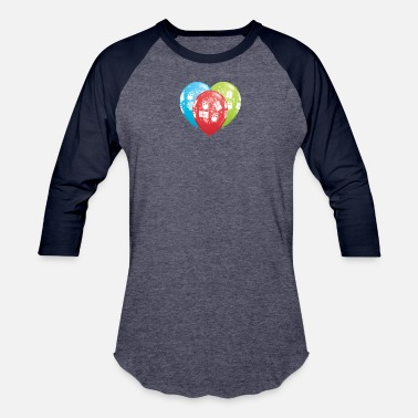 Freedom Of Expression Happy balloons express freedom - Baseball T-Shirt