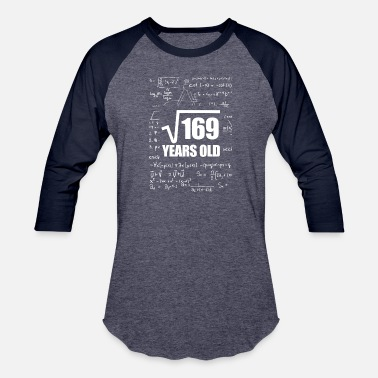 Thirteen 13th Birthday Teenager Math - Unisex Baseball T-Shirt