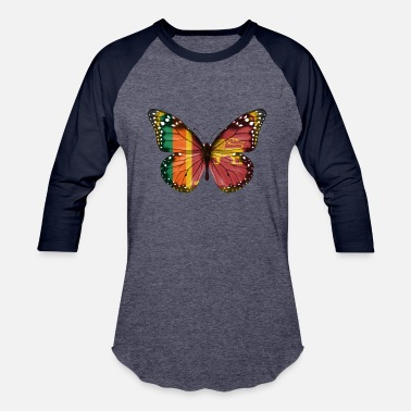 Sri Lankan Butterfly Flag Of Sri Lanka - Unisex Baseball T-Shirt