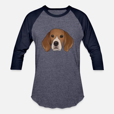 Beagle | Vintage Pet Cartoon Anime Animal Hound - Unisex Baseball T-Shirt