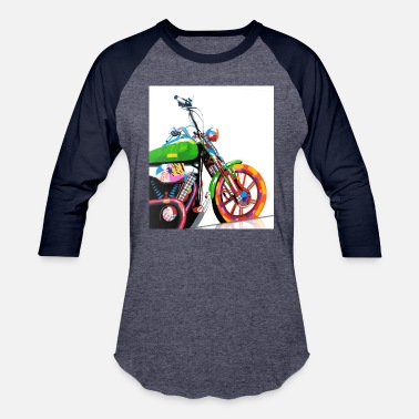 Bike Art POP ART MOTO BIKE - Baseball T-Shirt