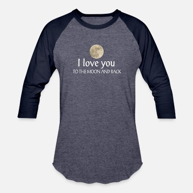 moon love gift t-shirt - Baseball T-Shirt