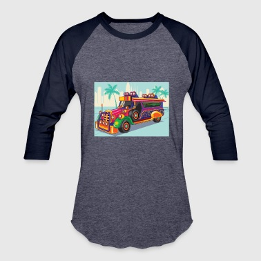 Philippine Jeep vector Illustration or Jeepney - Baseball T-Shirt