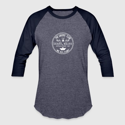 The Losers' Club Emblem - White Text - Baseball T-Shirt