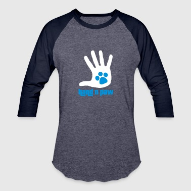 Hand And Paw funny tshirt - Baseball T-Shirt
