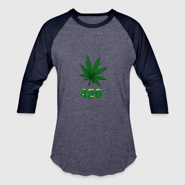 420 POT MARIJUANNA WEED LEAF - Baseball T-Shirt