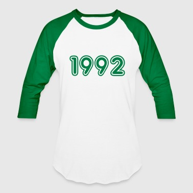 1992, Numbers, Year, Year Of Birth - Baseball T-Shirt