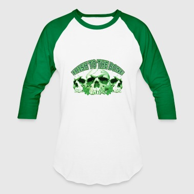 Irish to the Bone Skull - Baseball T-Shirt