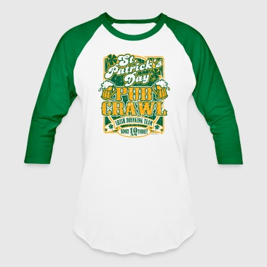 St. Patrick's Day Pub Crawl Tee by Tom Arvis - Baseball T-Shirt