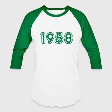 Birth Year 1958 1958, Numbers, Year, Year Of Birth - Baseball T-Shirt